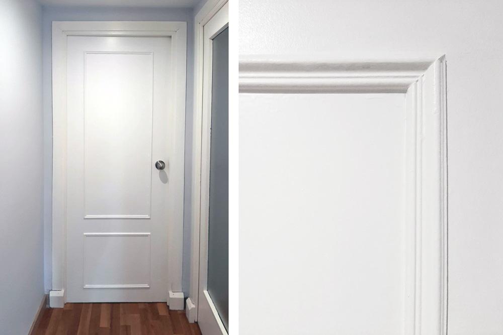 Renovar puertas de casa con molduras de madera