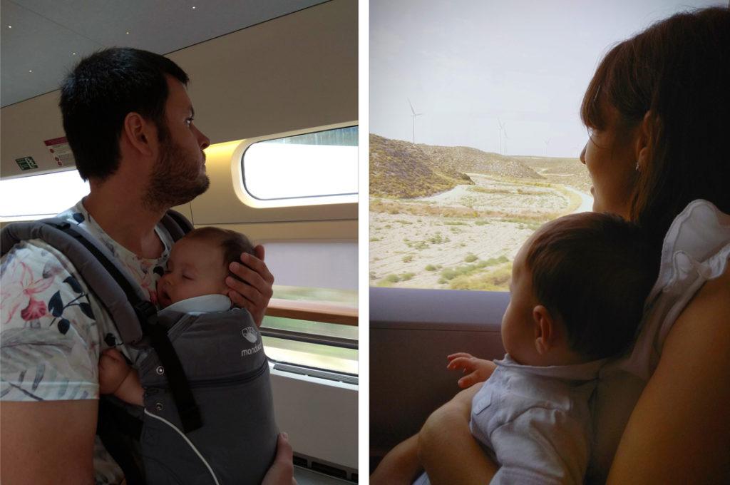 Viajar en AVE con un bebé cómodo