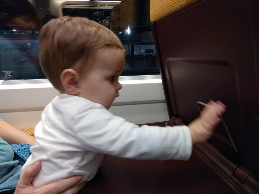 Viajar con un niño de 1 año en el AVE