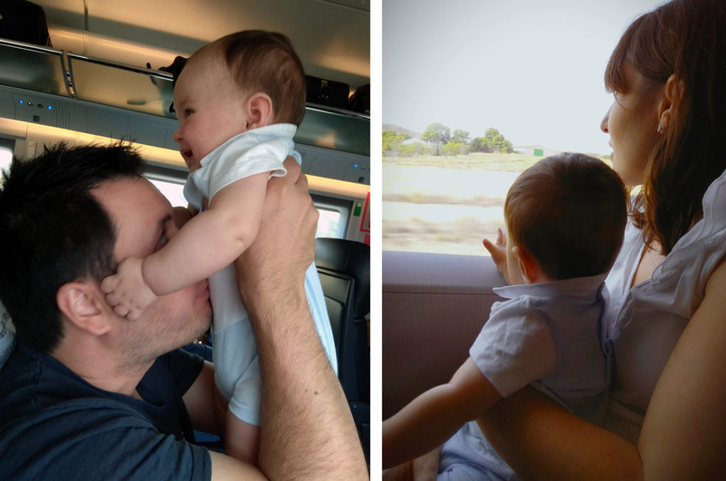 Viajar en tren a Provenza con un bebé