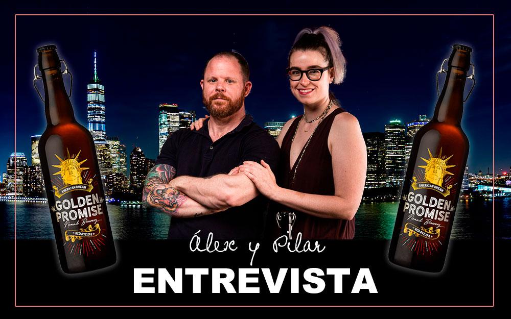 Álex Mabry y Pilar Sopeséns - Cerveza Golden Promise