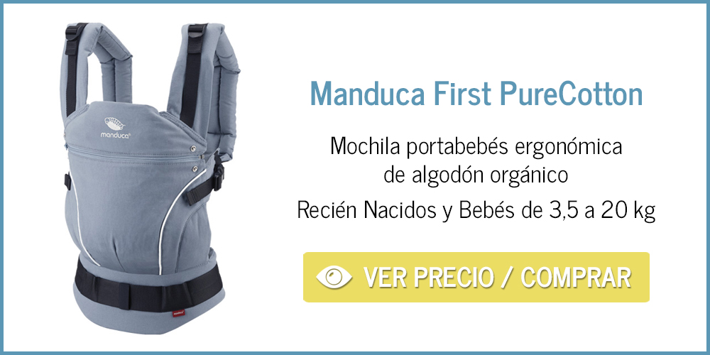 Manduca First Purecotton: mochila ergonómica para bebé