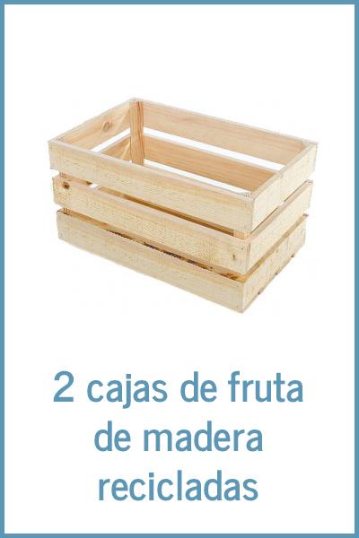 Material necesario: cajas de fruta recicladas
