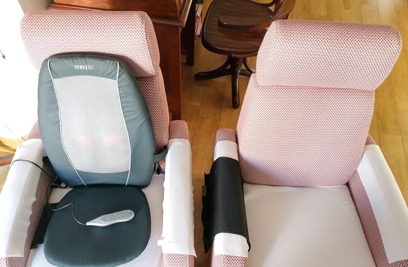 Sillón masajes Homedics shiatsu