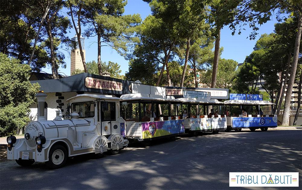 Zaragoza con niños al aire libre: tren chuchú del Parque Grande