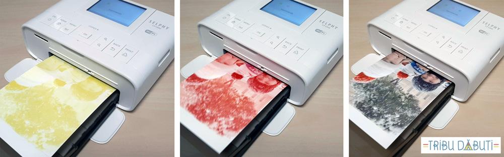 Impresora de fotos para casa de Canon impresión en tres tintas