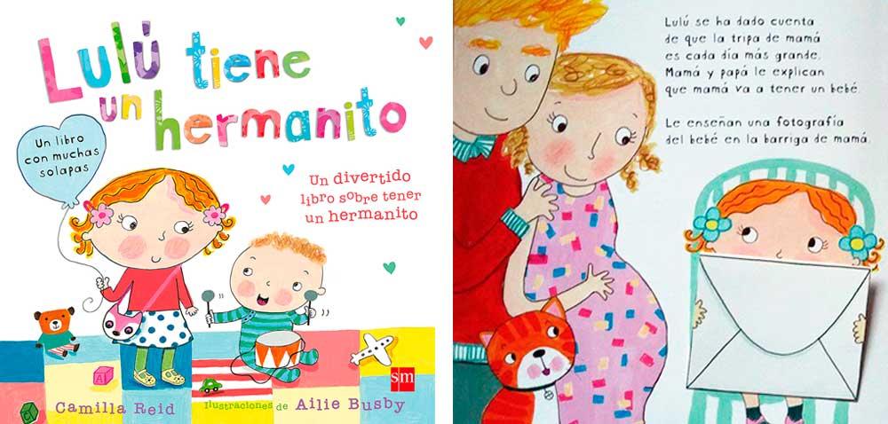 Lulú tiene un hermanito libro infantil